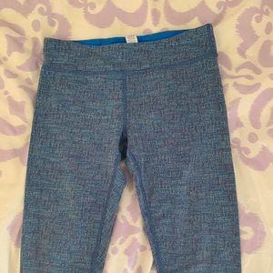 Ivivva cropped blue leggings size 14